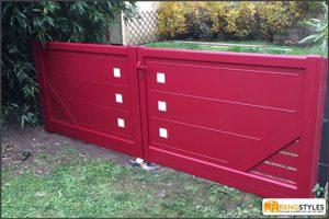 portails-aluminum-rouge-renostyles-domont